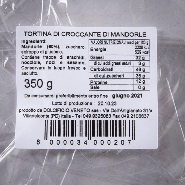 Tortina di Croccante Mandorla - Dolcificio Artigianale