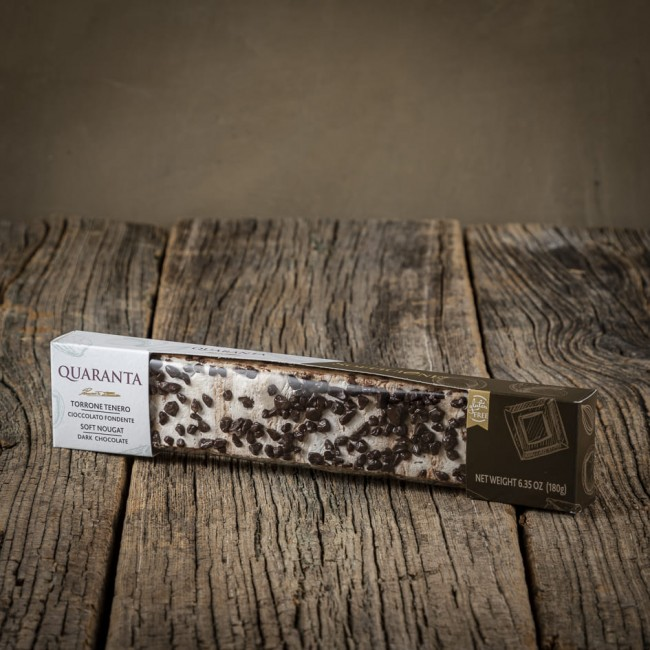 Stecca di Torrone Tenero Cioccolata Fondente - Quaranta