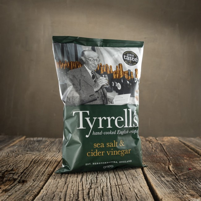 Tyrrells Sea Salt & Cider Vinegar - patatine