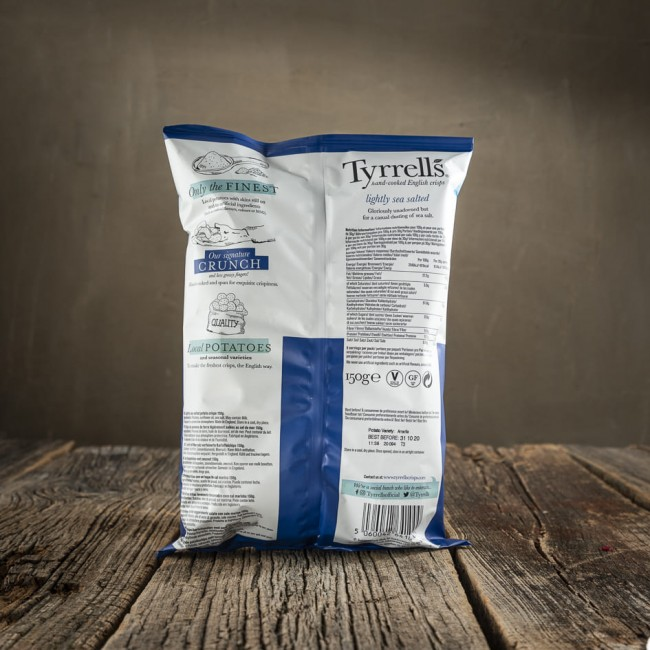 Tyrrells Lightly Sea Salted - patatine