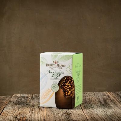 Uovo di Pasqua Nocciolato Extra Fondente - Baratti & Milano
