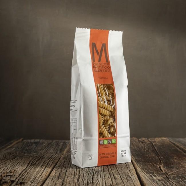 Fusilli - pasta di semola di grano duro  - Mancini Pastificio Agricolo