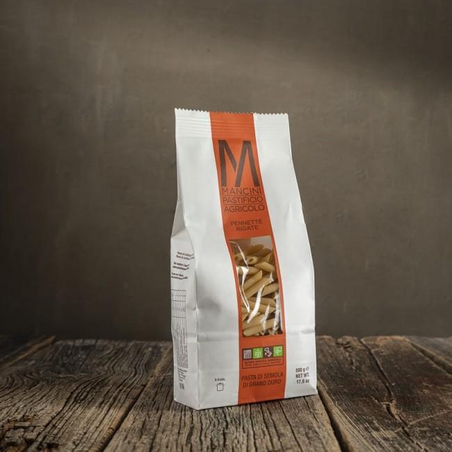 Pennette Rigate - pasta di semola di grano duro - Mancini Pastificio Agricolo