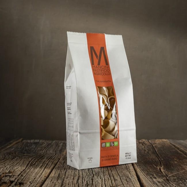 Calamarata - pasta di semola di grano duro - Mancini Pastificio Agricolo