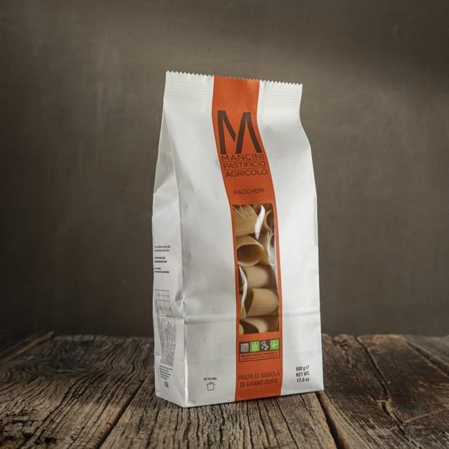 Paccheri - pasta di semola di grano duro - Mancini Pastificio Agricolo